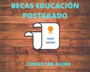 BECAS EDUCACIÓN POSTGRADO