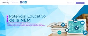 MexicoX portal educativo MOOC