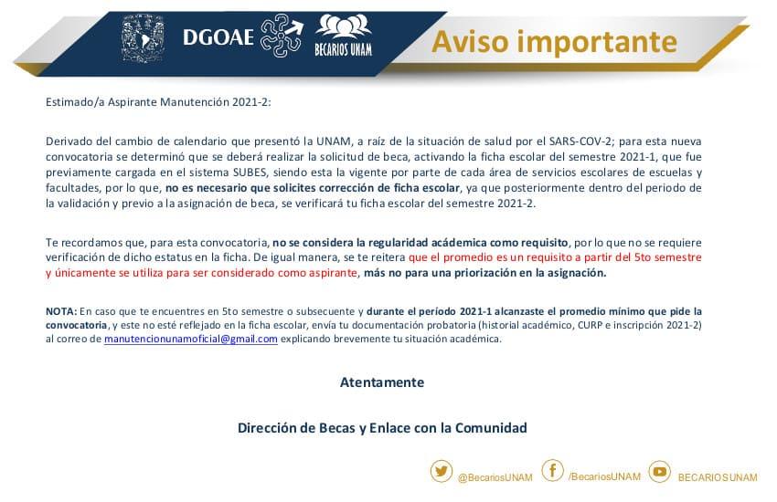 ACTIVACIÓN-FICHA-MANUTENCIÓN UNAM