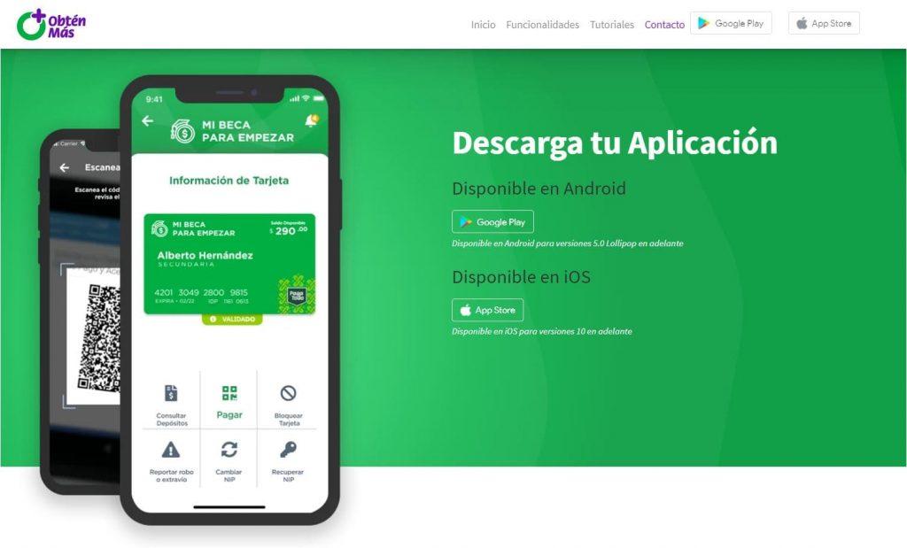 Web oficial app tu beca para empezar