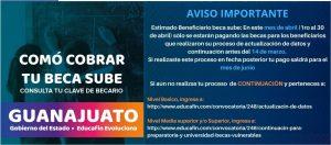 Beneficiarios becas SUBES-T Guanajuato