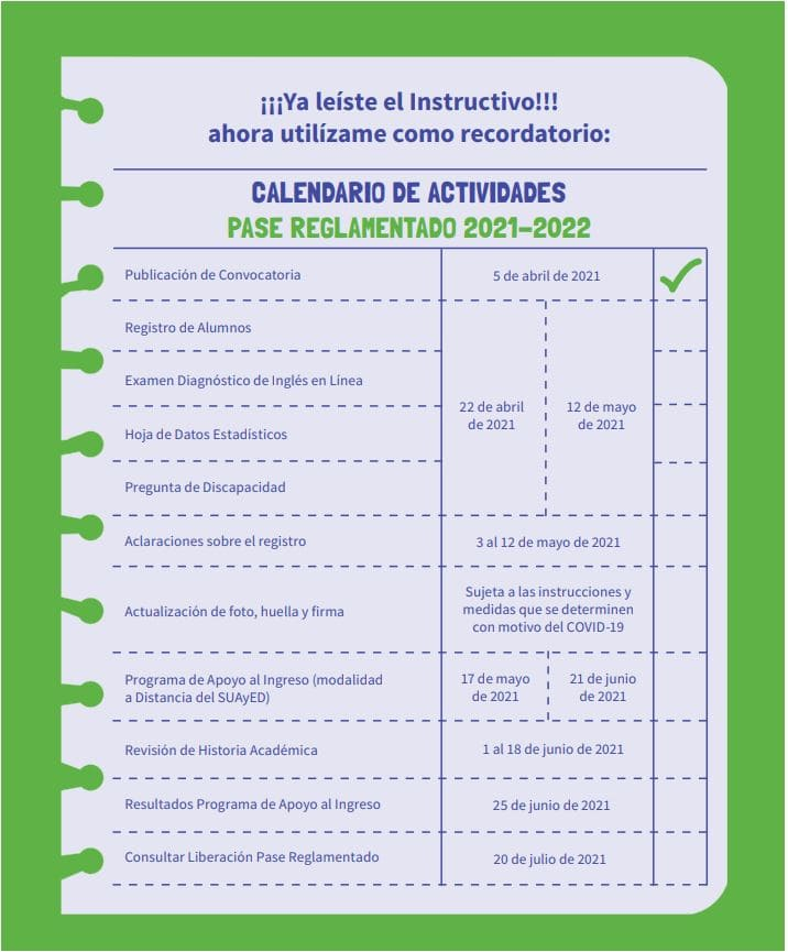 Calendario admision licenciatura unam 2021 cupo