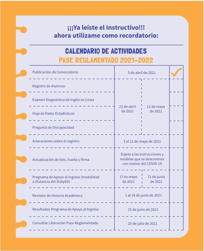 Calendario admision preparatoria unam 2021 pase reglamentado